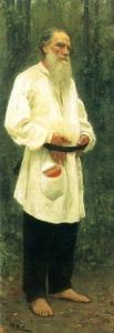 И.Е.Репин «Портрет Льва Толстого» 1901 год.